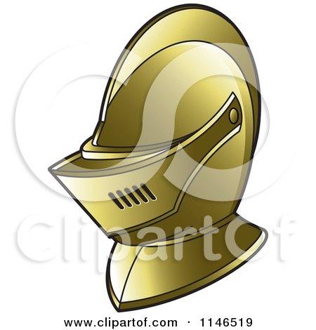 Golden Armour Knights Helmet Posters, Art Prints
