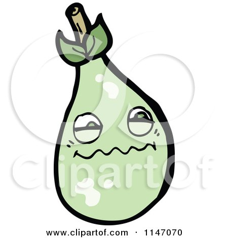 Cartoon of a Pear Mascot - Royalty Free Vector Clipart by lineartestpilot