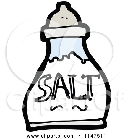 Cartoon of a Salt Shaker - Royalty Free Vector Clipart by lineartestpilot