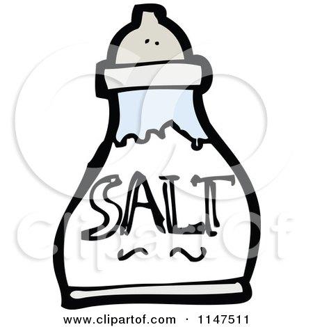 Cartoon of a Salt Shaker  Table Salt Clipart
