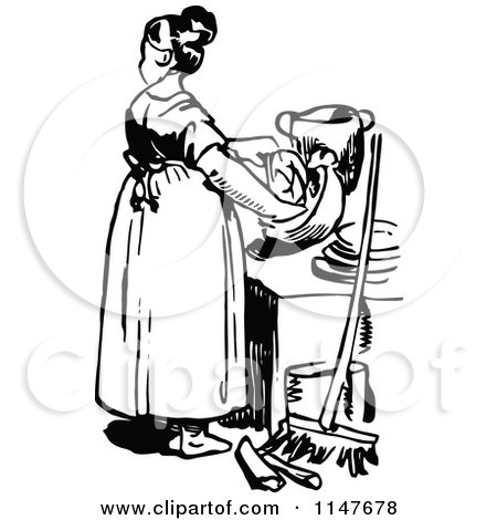 brunette mother helping her daughter wash and dry dishes 2 posters art prints by graphics rf. Black Bedroom Furniture Sets. Home Design Ideas