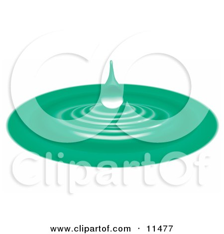 Green Waterdrop and Ripples Posters, Art Prints