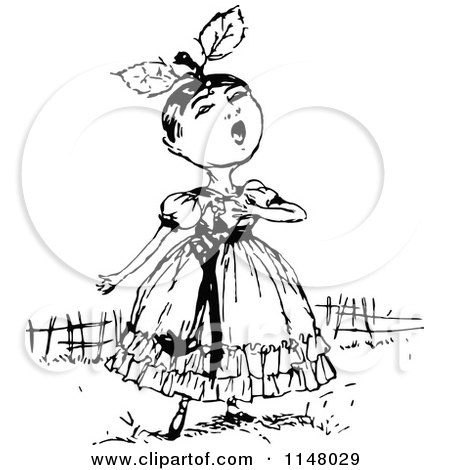 Royalty-Free (RF) Singing Girl Clipart, Illustrations, Vector ...