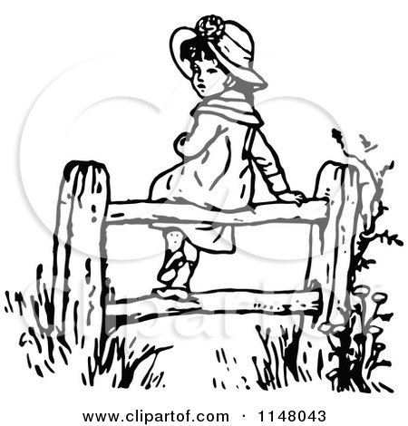 Farm Fence Clipart Black And Whiteghantapic