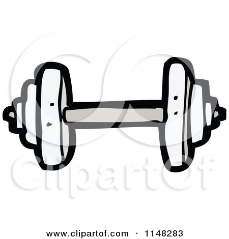 cartoon of a dumbbell royalty free vector clipart by lineartestpilot 1148283. Black Bedroom Furniture Sets. Home Design Ideas