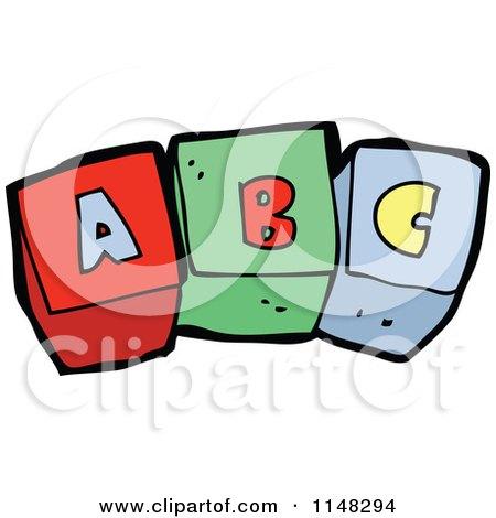 cartoon of alphabet letter blocks spelling abc royalty free vector rh clipartof com