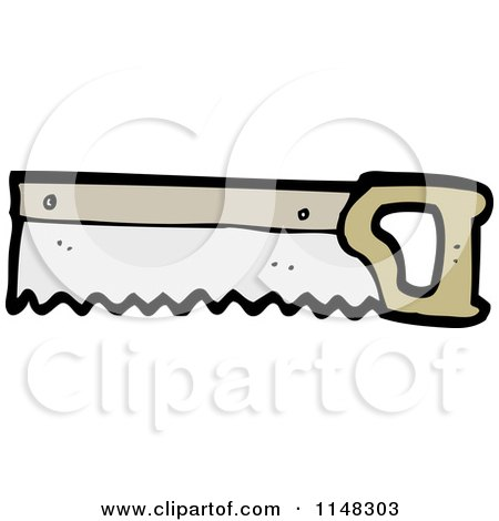 Cartoon Hand Saw