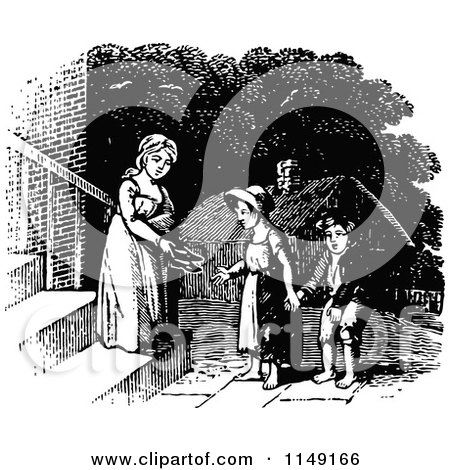 http://images.clipartof.com/small/1149166-Retro-Vintage-Black-And-White-Girl-Giving-Shoes-To-Poor-Kids.jpg