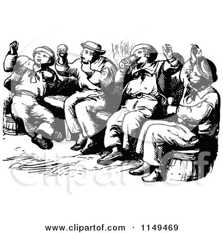 Royalty Free Rf Drunk Men Clipart Illustrations Vector