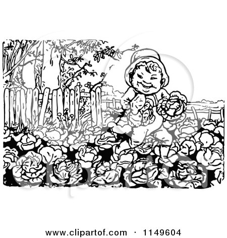 Clipart Vintage Black And White Garden House Royalty