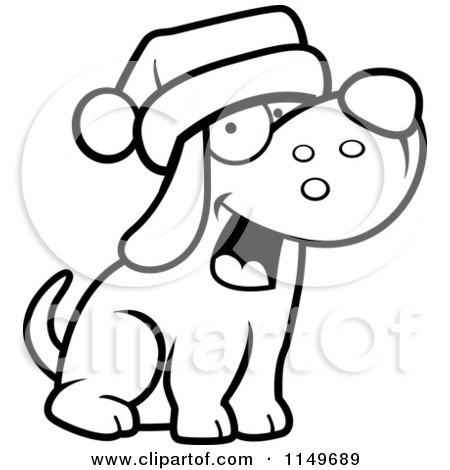 Santa Hat Clip Art Black And White
