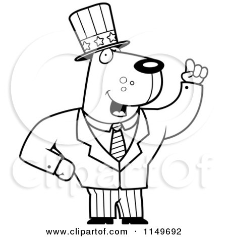 Cartoon Clipart Of A Black And White Uncle Sam Dog in a ... | 450 x 470 jpeg 28kB