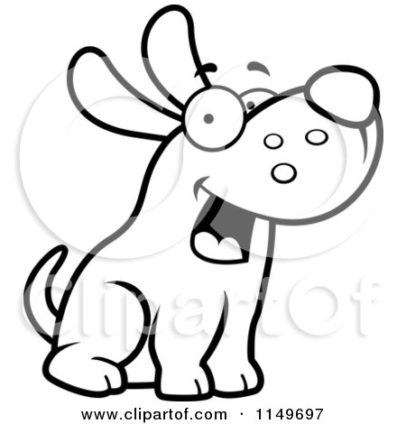 Dog Character Sitting Vector Outlined Coloring Page By Cory Thoman