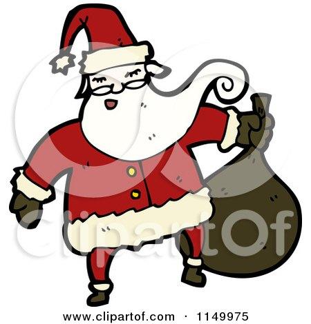 Cartoon of Santa - Royalty Free Vector Clipart by lineartestpilot