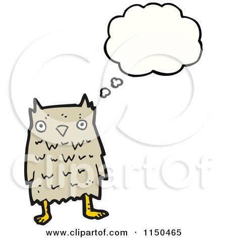 Cartoon of a Thinking Owl - Royalty Free Vector Clipart by ...