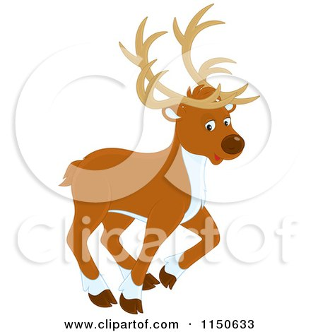 Clipart Illustration Of A Male And Female Deer Standing In