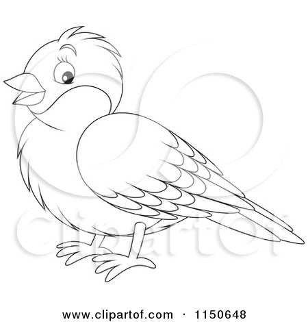 Clipart Illustration of a Cute Brown Robin Bird With A Red Chest ...