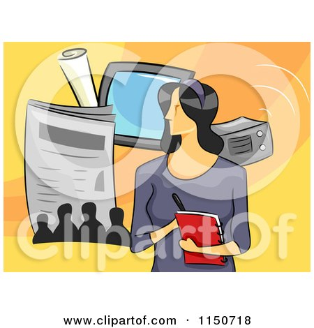 clipart illustration of anxious hands of news reporters News Reporter Clip Art journalist clipart black and white