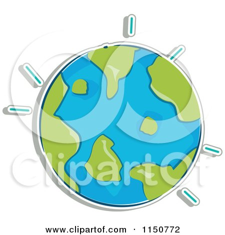 Cartoon of a Globe - Royalty Free Vector Clipart by BNP Design Studio