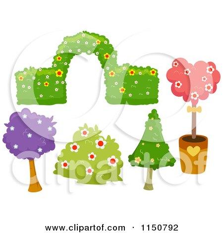 Garden Design Graphics royalty-free (rf) bush clipart, illustrations, vector graphics #2