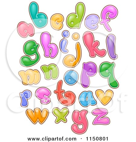 Cartoon of Colofrul Bubbly Alphabet Letters - Royalty Free Vector Clipart by BNP Design Studio