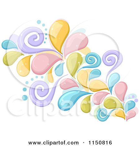Cartoon of a Colorful Splash with Swirls - Royalty Free Vector Clipart by BNP Design Studio