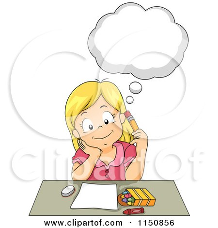 Kid Brainstorm Clipart Black And White