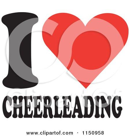 Cartoon of I Heart Cheerleading - Royalty Free Vector Clipart by Johnny Sajem