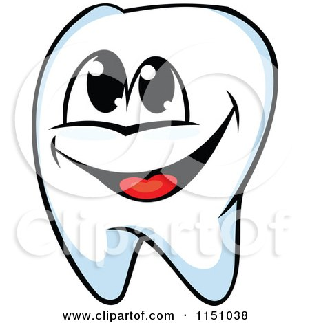 Clipart of a Happy Tooth Mascot - Royalty Free Vector Clipart by Vector Tradition SM