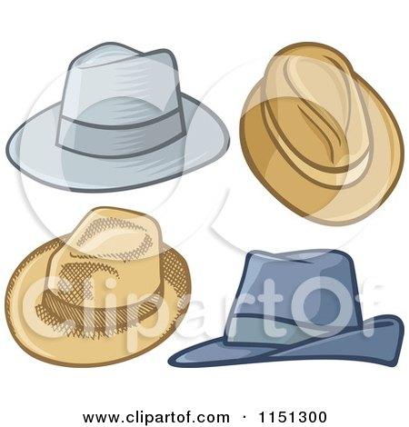 Cartoon of Mens Hats - Royalty Free Vector Clipart by Any Vector