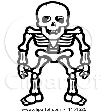 cartoon human skeleton, Skeleton