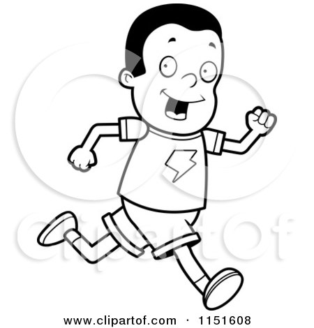 Girls Running Coloring Page