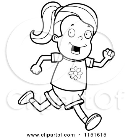 Sketches of people running coloring pages for Temple run coloring pages
