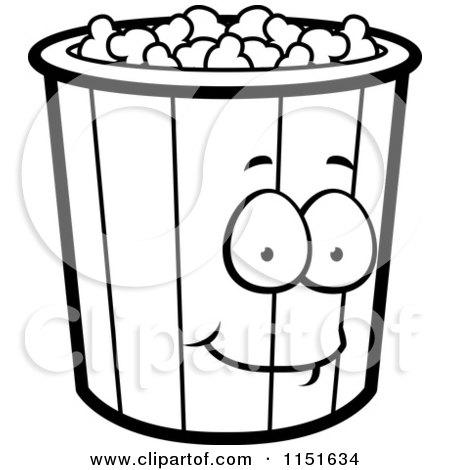 Black And White Popcorn Bucket Mascot Posters, Art Prints