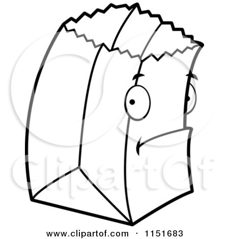 paper bag princess characters coloring pages | Royalty-Free (RF) Grocery Bag Clipart, Illustrations ...