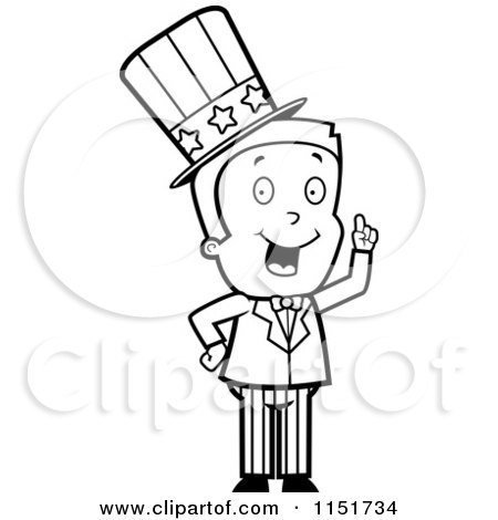 Cartoon Clipart Of A Black And White Uncle Sam Boy ... | 450 x 470 jpeg 24kB