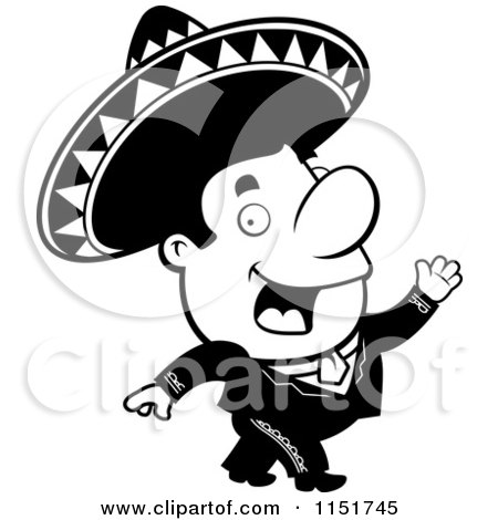 Cartoon Sexy Female Mariachi Looking Up Presenting And Holding A Hat 1313664 on latinas de mexico