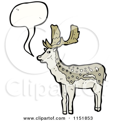 Cartoon of a Talking Buck Deer - Royalty Free Vector Illustration by lineartestpilot
