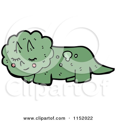 Cartoon of a Triceratops - Royalty Free Vector Illustration by lineartestpilot