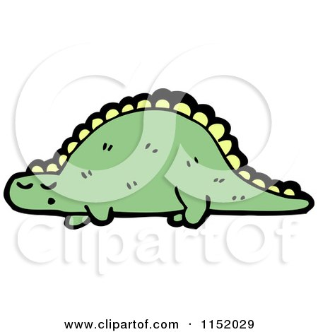 Cartoon of a Dinosaur - Royalty Free Vector Illustration by lineartestpilot