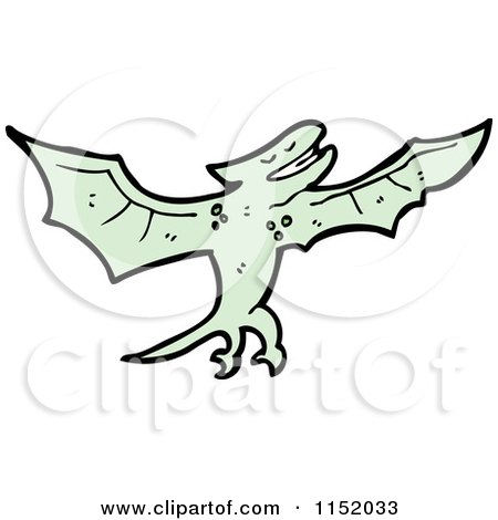 Cartoon of a Pterodactylus - Royalty Free Vector Illustration by lineartestpilot