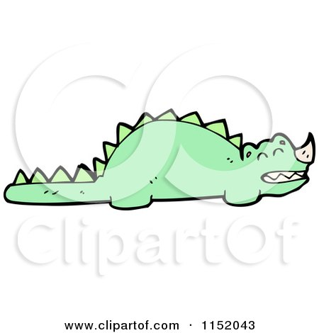 Cartoon of a Dinosaur - Royalty Free Vector Illustration by lineartestpilot