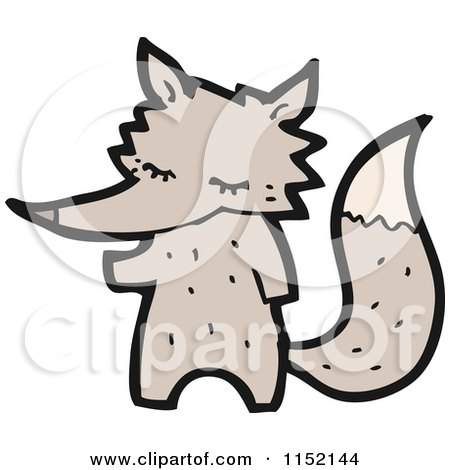Cartoon of a Wolf - Royalty Free Vector Illustration by lineartestpilot