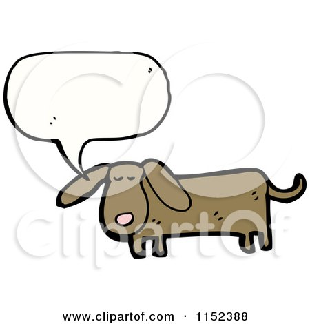 Cartoon of a Talking Dachshund Dog - Royalty Free Vector Illustration by lineartestpilot