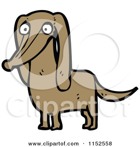 Cartoon of a Dachshund Dog - Royalty Free Vector Illustration by lineartestpilot