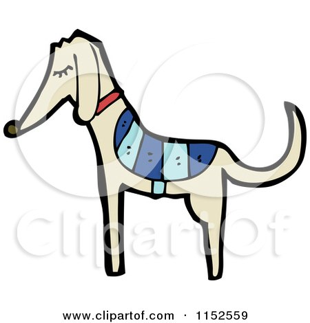Cartoon of a Greyhound Dog - Royalty Free Vector Illustration by lineartestpilot