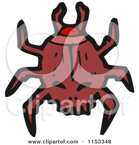 Cartoon of a Scarab Beetle - Royalty Free Vector Illustration by lineartestpilot