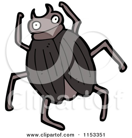 Cartoon of a beetle royalty free vector illustration by - Clipart illustration ...