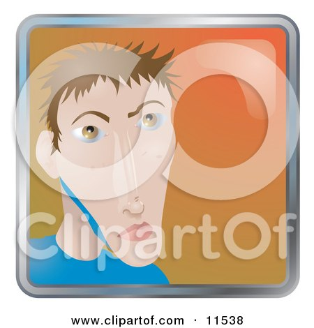 People Internet Messenger Avatar Of A Young Skinny Man Clipart Illustration