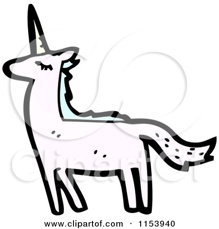 Cartoon of a Unicorn - Royalty Free Vector Illustration by lineartestpilot